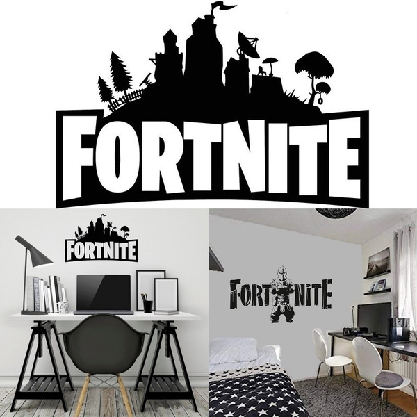 Hot Fortnite Game Wall Sticker Vinyl Decal Art Removable Wall Stickers For Home Bedroom Wallpaper Decals Home Decoration