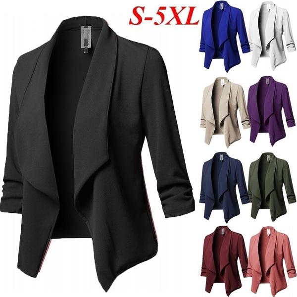 shortcoat, Fashion, Women Blazers, Sleeve