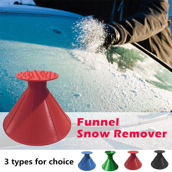 Remover Shovel Cone Shaped Outdoor Winter Car Tool Snow Windshield Funnel Ice Scraper Home Window Cleaners