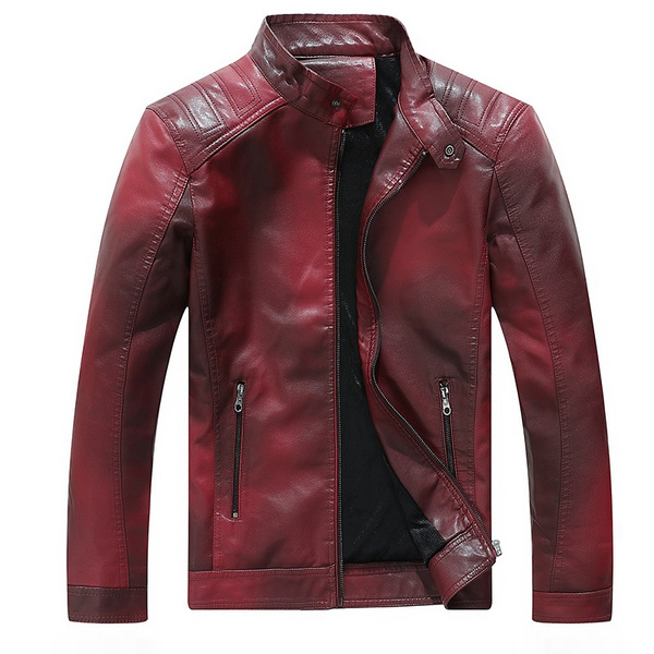 DANNI Autumn Winter High-end Mens Motorcycle Leather Jacket Casual Mens Leather Coat