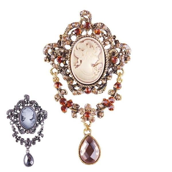 Gift Fashion Antique Vintage Brooch Pin Women  Cameo Brooch