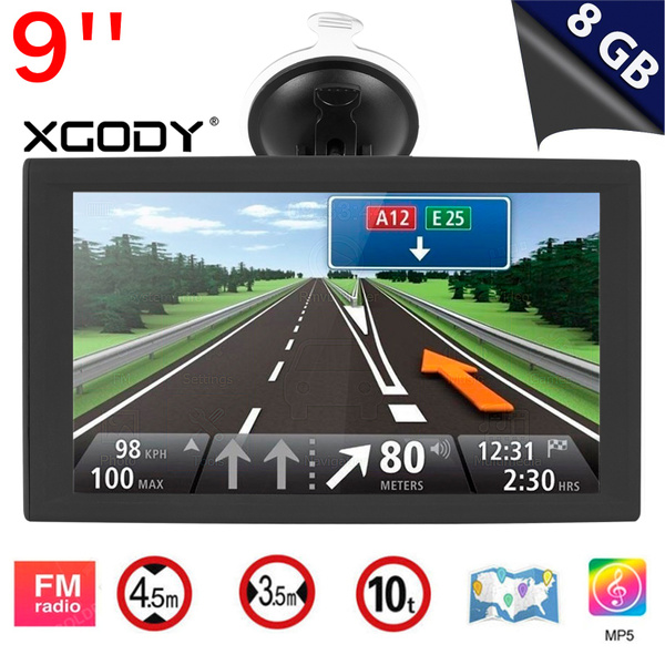 9'' Touch Screen XGODY X4 Portable Car Truck 8GB ROM GPS Navigation Free  Lifetime Map and Traffic Updates SAT NAV with Capacitive Touch Screen  Support
