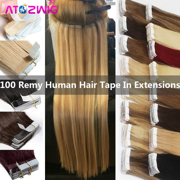 Hair Extensions, 1618202224inch, tapeinhairextensionsfullhead, 20pcsset