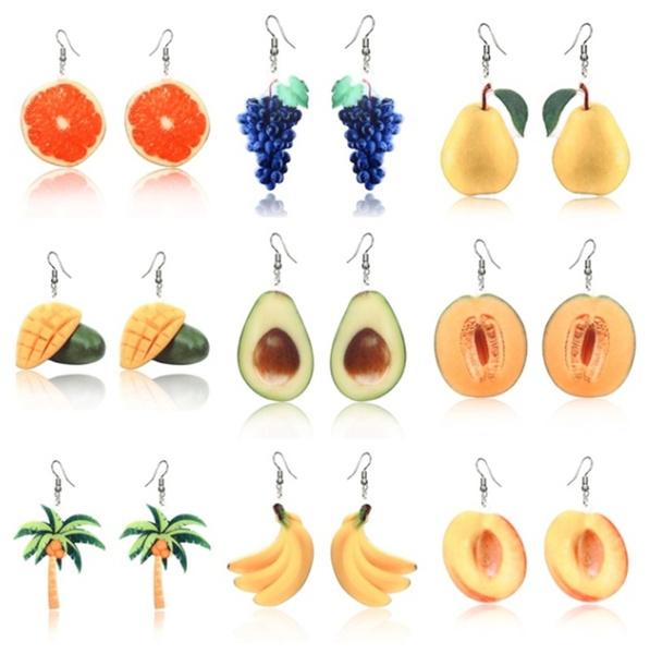 Jewelry, peach, Tree, fruitearring
