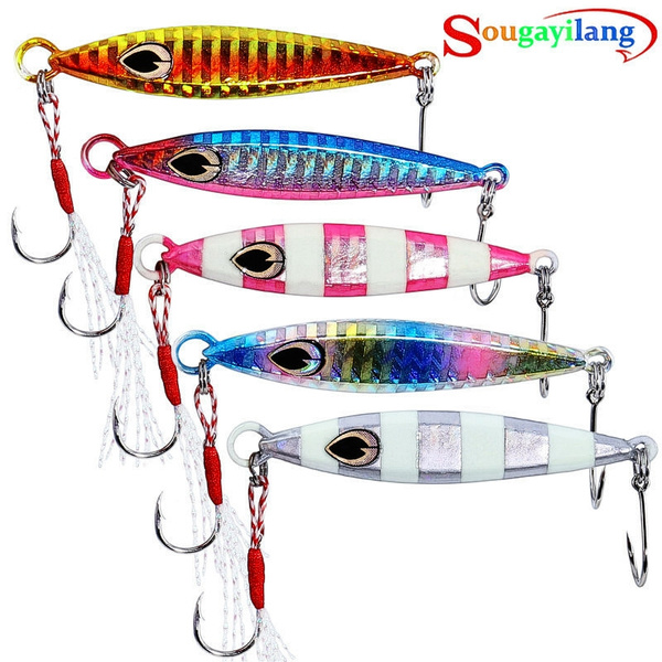Spoon Fishing Lures Metal Jig Crankbaits Hard Bait Feather Treble Hooks Spinner Baits Fishing Lure for Trout Bass Walleyes Fishing