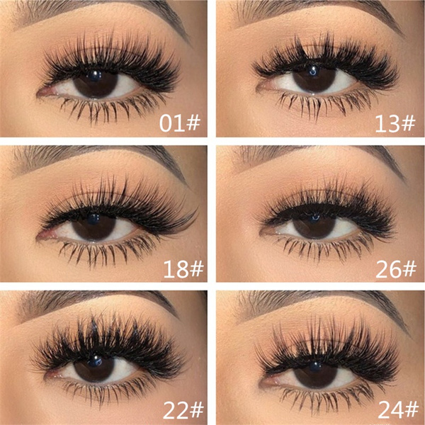8d8498fe254 3D Self Adhesive False Eyelashes Extension Reusable Natural Curly ...