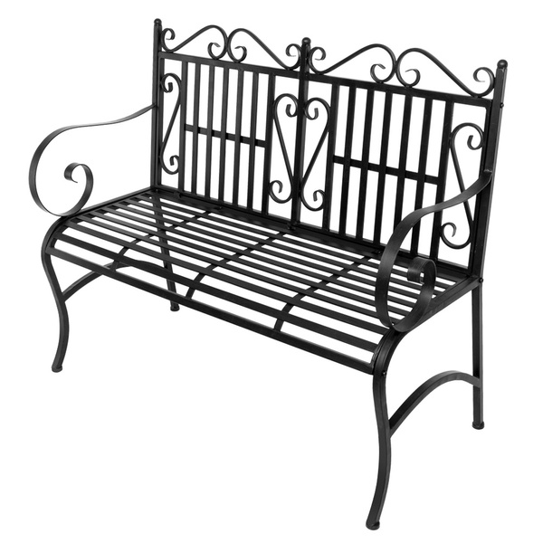 Outstanding 2 Seater Foldable Outdoor Patio Garden Bench Porch Chair Seat With Steel Frame Solid Construction Beatyapartments Chair Design Images Beatyapartmentscom