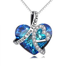 Sterling, Heart, Love, Chain