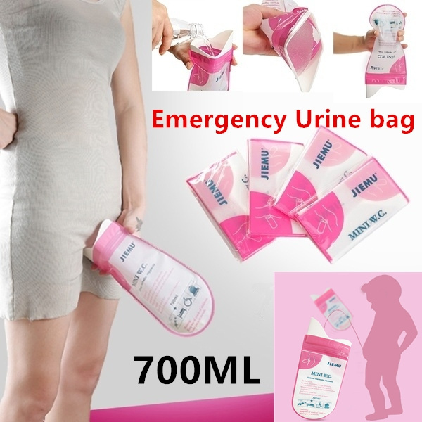 Portable Disposable Uni Outdoor Camping Sports Travel Emergency Toilet Urine Bag Mini W C Urinate Bags
