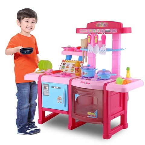 Kitchen Cooking Simulation Model Children\'s Multi-Functional Kitchen Play  Set