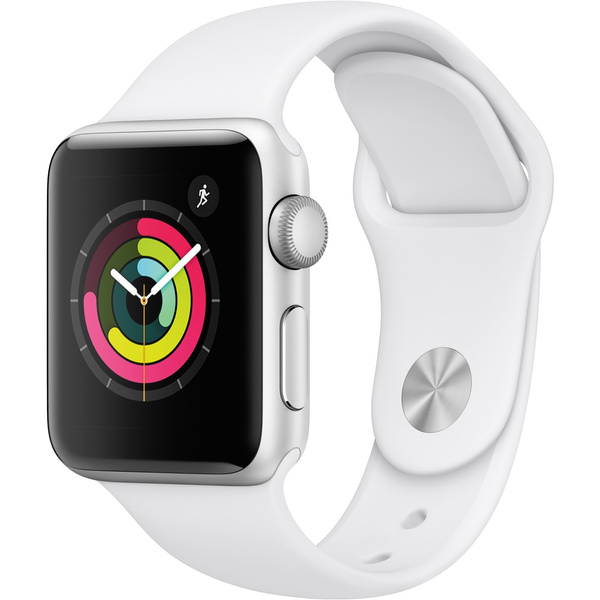 Refurbished Apple Watch Gen 3 Series 3 38mm Silver Aluminum   White Sport Band Mtey2 Ll/A by Wish