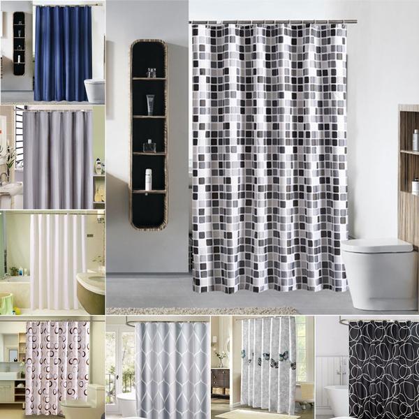 Bathroom, bathroomcurtain, bathroomsupply, Waterproof