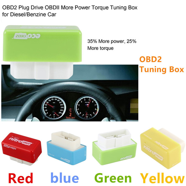 Full Chips OBD2 Car Chip Tuning Box Plug & Drive OBD2 Engine Save Fuel ZX