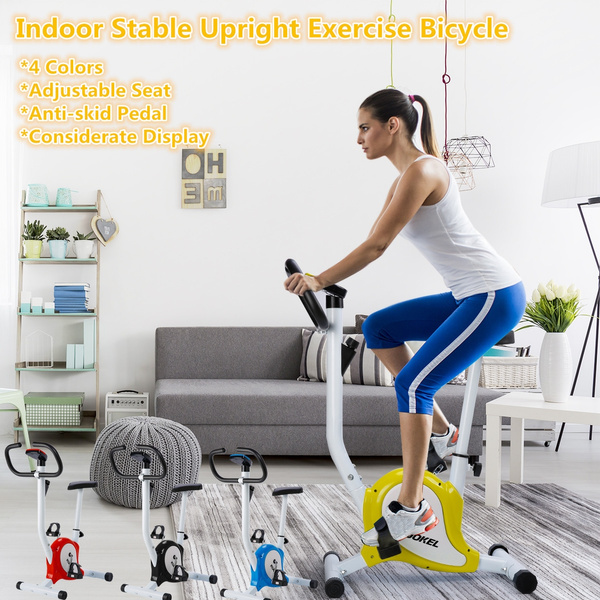 Upright Bike Durable Exercise Bicycle Trainer Fitness Cardio Aerobic Equipment