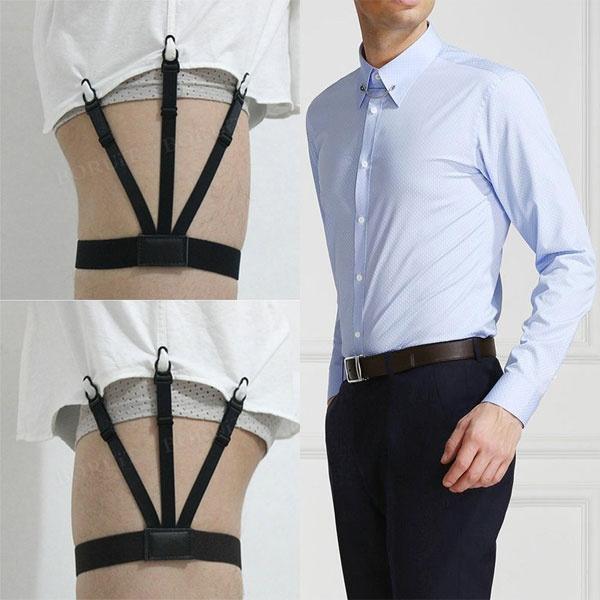 Men Shirts Stay Suspender Leg Holders Elastic Nylon Garter Slip On Locking Clamp