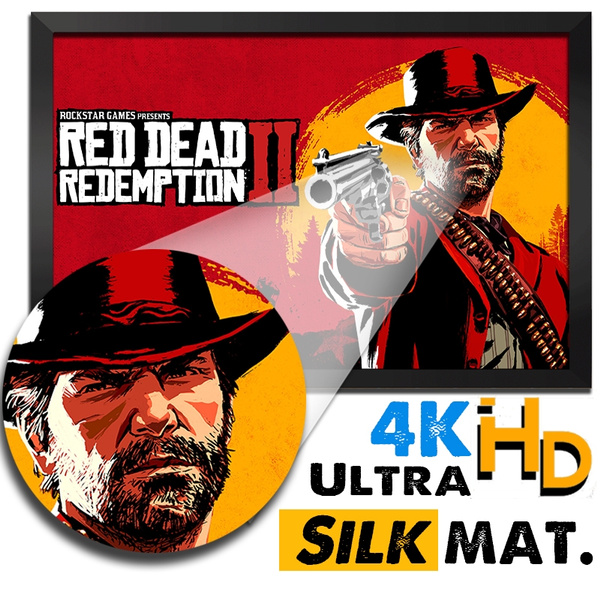 Red Dead Redemption 2 Printing Wall Paper Without Frame 4k Ultra Hd Multi Pattern Video Game Poster Stickers Painting Design Canvas Photo Paper