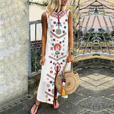 Plus Size, long dress, Dress, Beach