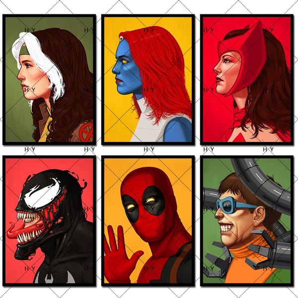retroposter, Superhero, movieposter, Posters