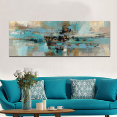 Blues, Pictures, posters & prints, modern abstract oil painting