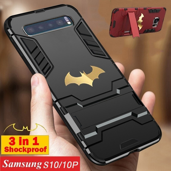 finest selection d6e89 b7fbe Samsung Galaxy S10 Case, 2019 Fashion Batman Hard Armor Shockproof  Dustproof Protective Case Cover with Stand for Samsung S10 S8 S8 Plus S9 S9  Plus ...