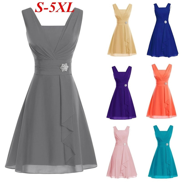 slim dress, chiffon, A-line, Elegant