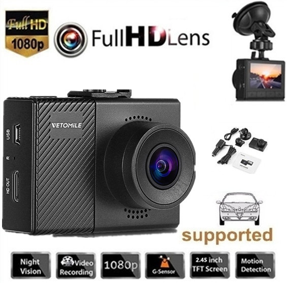 VETOMILE G70 F1.5 Car DVR Dash Cam Supercapacitor Full HD 1080P Novatek 96658