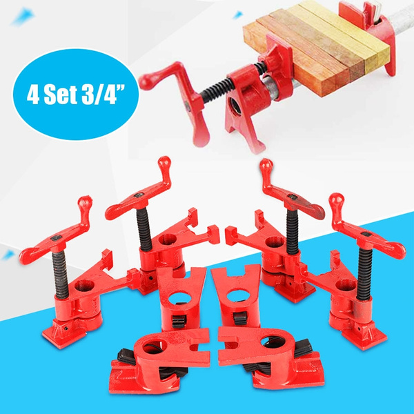 Astounding 4 Set 3 4 Quick Release Woodworking Wide Base Iron Workbench Metal Clamp Set Andrewgaddart Wooden Chair Designs For Living Room Andrewgaddartcom