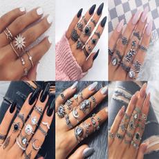 kuncklering, bohemianring, crystal ring, Women Ring