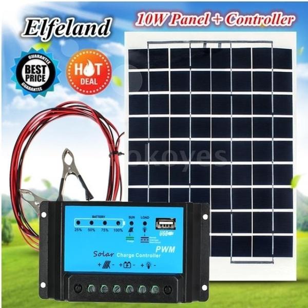 Digital 10A Solar Panel battery PWM Regulator Charger