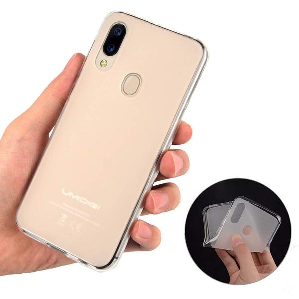 info for 1efbd 84c61 Umidigi case Ultra Slim Thin Dull Polish Half - Clear TPU Rubber Soft Skin  Silicone Protective Phone Case Cover for Umidigi Z2 Umidigi one Umidigi A3