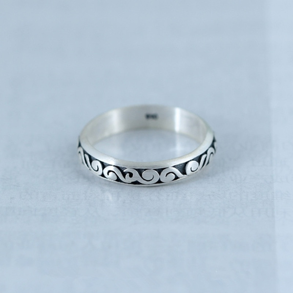 Sterling, todpole, carvingring, 925 silver rings