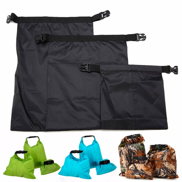 3Pcs Waterproof Dry Sack Bag Pouch for Canoe Floating Boating Kayak Camping