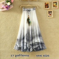 Summer, long skirt, Clothes, chiffon