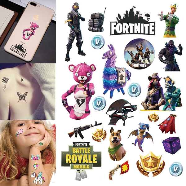 Waterproof Fortnite Temporary Fake Tattoos Easy To Use 21 15 Cm 83 X 6 Inches