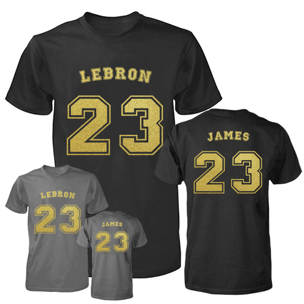 new styles a764b ed120 Los Angeles Lakers LeBron James Jersey Mens T-shirt Short Sleeve S-3XL