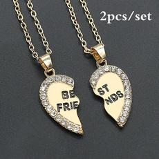 Heart, Chain Necklace, bestfriend, Jewelry