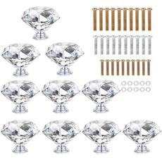 knobs, drawerknob, crystalglasshandle, DIAMOND