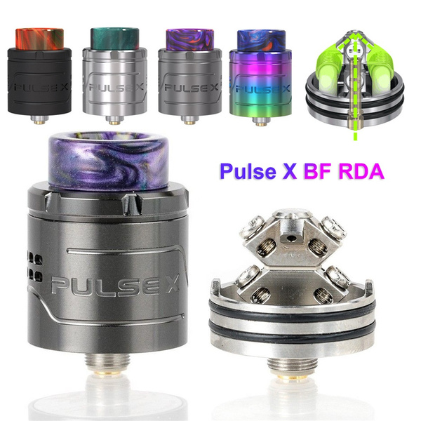 Vape DIY Stainless steel BF Squonk Pin Adjustable airflow 810 drip tip  Pulse X BF RDA 510 Thread Vandyvape 2ML Tank
