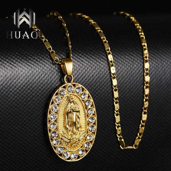 virginmarynecklace, virginmarypendantnecklace, goldnecklaceswomen, Jewelry