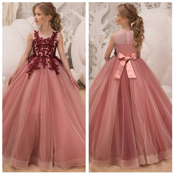 1bd242172a1 5-14 Years Teenage Girl Dresses Long Formal Prom Gown for Kids Girls ...