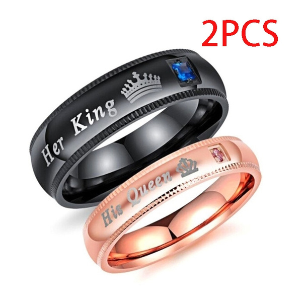 Couple Rings, King, Jewelry, Stainless steel ring