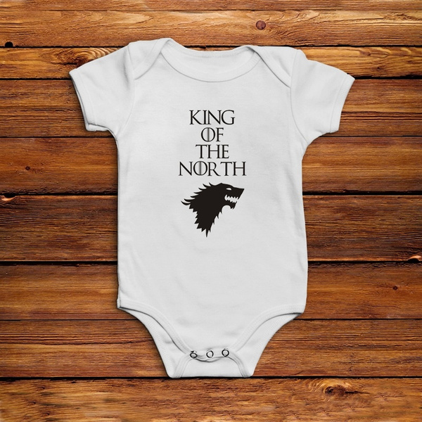 Game Of Thrones Baby Onesie Game Of Thrones Baby Clothes Game Of Thrones Baby Shower Gift Game Of Thrones Baby One Piece King Of The North Wish