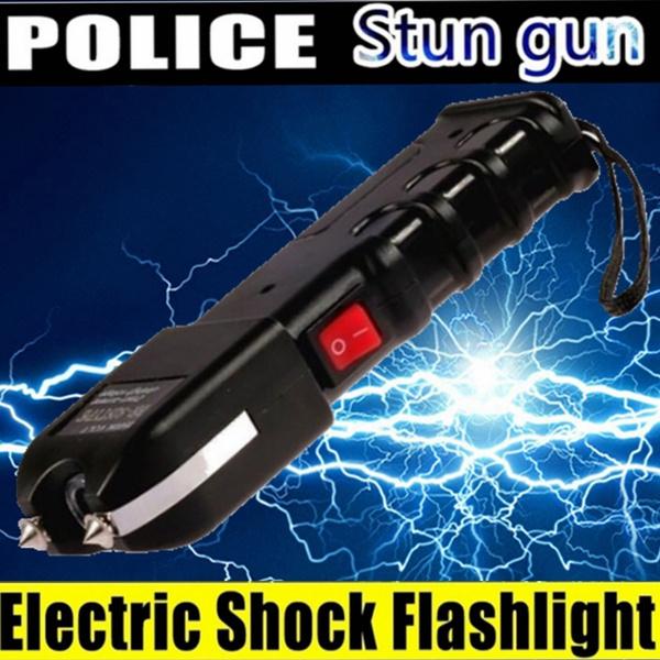 Electric Shock Flashlight Women Self Defense Tools POLICE 928 Stun Gun  Heavy Duty Rechargeable with LED Flashlight