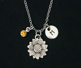Silver Jewelry, Jewelry, Sunflowers, Necklaces Pendants
