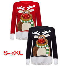 Crewneck Sweatshirt, Plus Size, Christmas, Sleeve