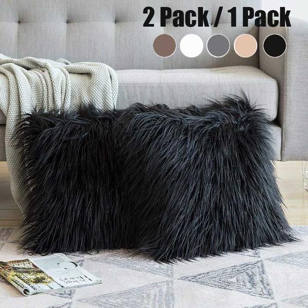 case, fur, Home Decor, sofacushioncover