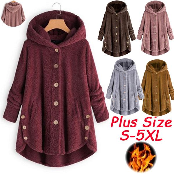 Plus Size, Fleece Hoodie, Winter Coat Women, Women Jacket