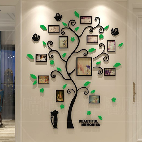 e32a3c0861 Removable Family Tree Wall Art Decals Stickers 3D Acrylic Crystal ...