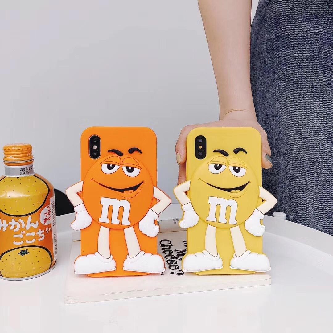 Чехлы для телефонов Силиконовый чехол обложка с забавным мультяшным шоколадным 3D персонажем M&Ms для iPhone 6 / 6s / 7 / 8 iphone 6p / 6sp /7 p /9 pl  iphone x xs (Фото 3)