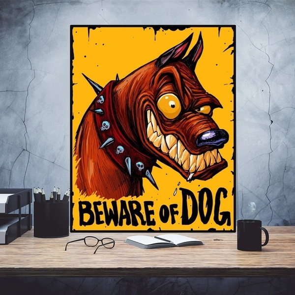 BEWARE OF DOG  METAL TIN SIGN POSTER WALL PLAQUE